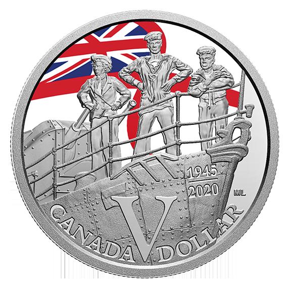 Канада монета 1 доллар Королевский флот Канады, реверс