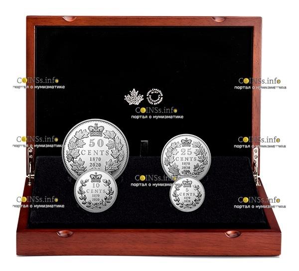 Канада монета 5 центов 150 лет выпуска первых монет Конфедерации, подарочная упаковка