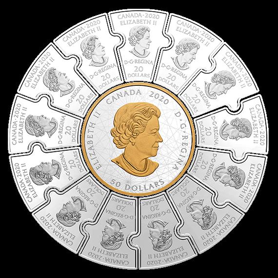 Канада монета-трансформер На четырех ветрах - Следопыты Канады, аверс