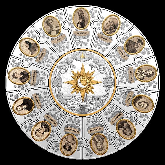 Канада монета-трансформер На четырех ветрах - Следопыты Канады, реверс