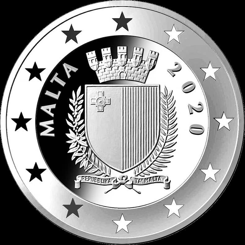 Мальта монета 10 евро 2020 год, аверс