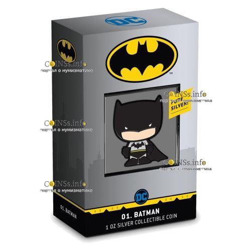 Ниуэ монета 2 доллара Комиксы BATMAN, подарочная упаковка