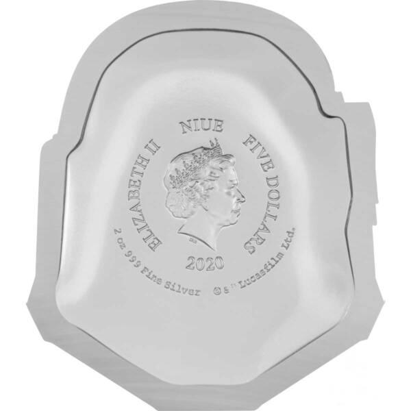 Ниуэ монета 5 долларов Шлем Штурмовика, реверс