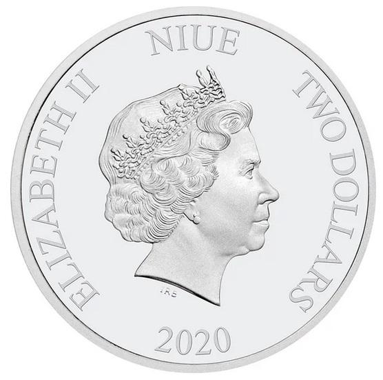 Ниуэ монетау 2 доллара Медвежонок Пух, аверс