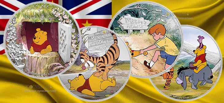 Ниуэ серия монет Винни-Пух и медовое дерево