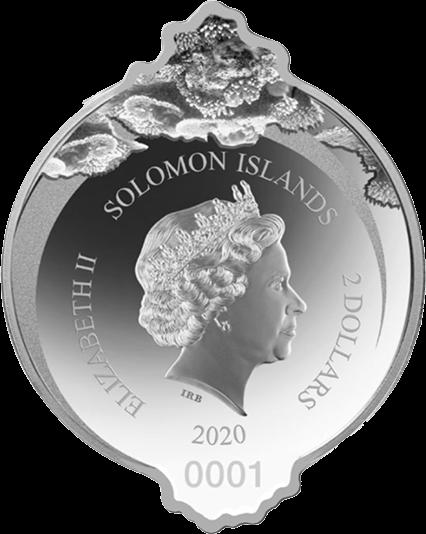 Соломоновы острова монета 2 доллара Гигантский морской конек, аверс