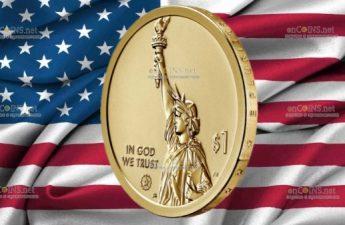 США монета 1 доллар Коннектикут