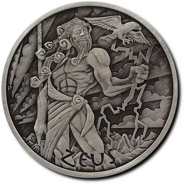 Тувалу монета 1 доллар Зевс Antique, реверс
