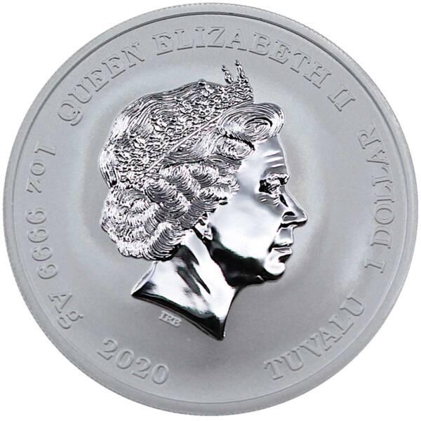 Тувалу монета 1 доллар Зевс Brilliant uncirculated, аверс