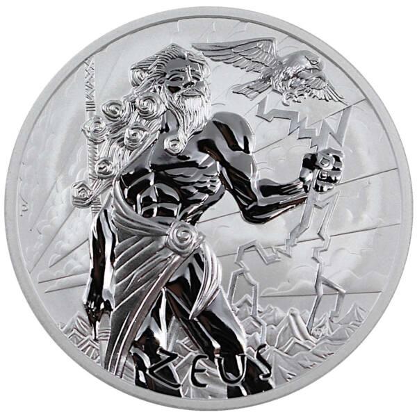 Тувалу монета 1 доллар Зевс Brilliant uncirculated, реверс