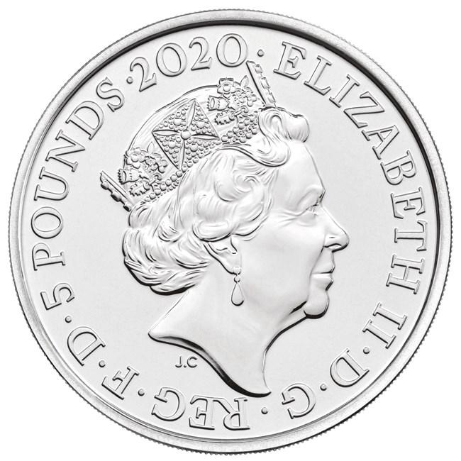 Великобритания монета 5 фунтов, 2020 год
