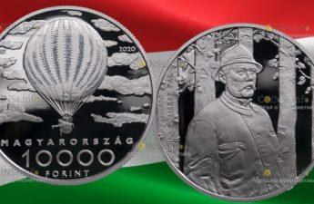 Венгрия монета 10000 форинтов Пал Синьеи-Мерше