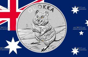 Австралия монета 1 доллар Квокка