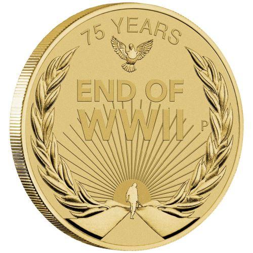 Австралия выпускает монету 1 доллар 75 лет Победы на Тихом океане, реверс