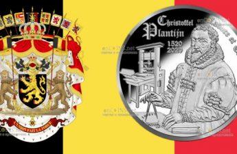Бельгия монета 10 евро Христофор Плантен