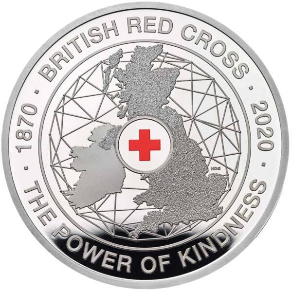 Британия монета 5 фунтов Британский Красный Крест, реверс