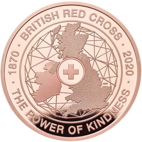 Британия монета 5 фунтов Британский Красный Крест, золото, реверс