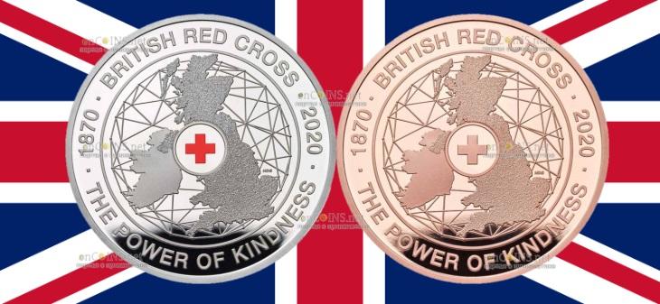 Британия монета 5 фунтов Британский Красный Крест