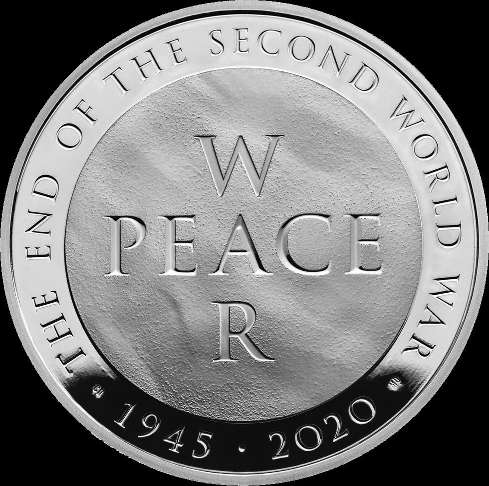 Британия монета 5 фунтов Война и Мир, реверс