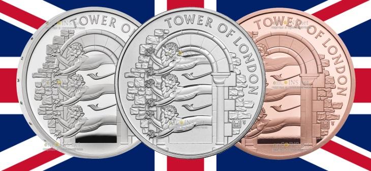 Британия выпустила в обращение серию монет Королевский зверинец