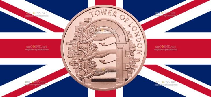 Британия выпустила в обращение золотую монету 5 фунтов Королевский зверинец