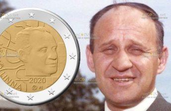 Фифнляндия монета 2 евро Вяйнё Линна