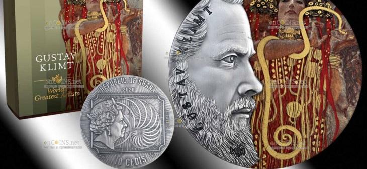 Гана монета 10 седи - Густав Климт