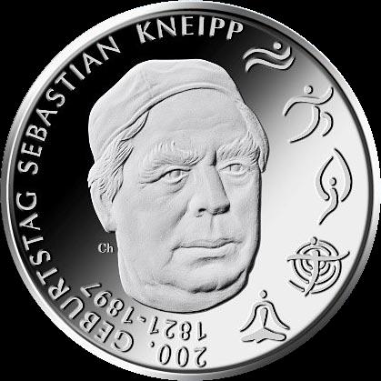 Германия монета 20 евро Себастьян Кнейпп, реверс