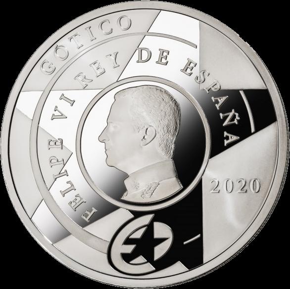 Испания монета 10 евро Готическая эра, аверс