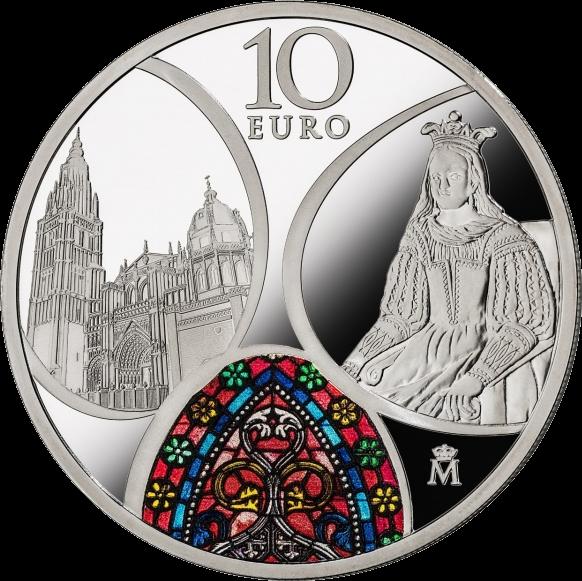 Испания монета 10 евро Готическая эра, реверс