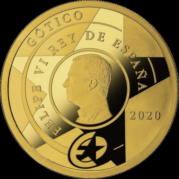 Испания монета 200 евро Готическая эра, аверс