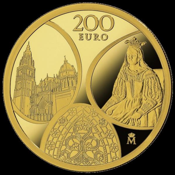 Испания монета 200 евро Готическая эра, реверс