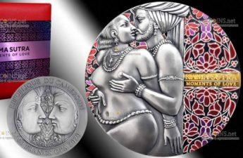 Камерун монета 3000 франков Мгновение любви