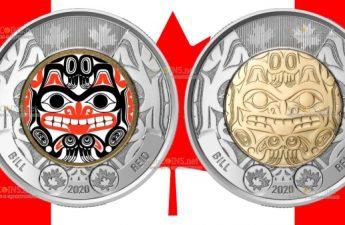 Канада монет 2 доллара Билл Рид