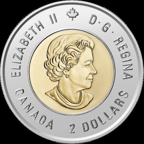 Канада монет 2 доллара Билл Рид, аверс