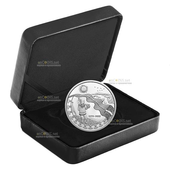 Канада монета 30 долларов 150 лет Северо-Западным территориям, подарочная упаковка