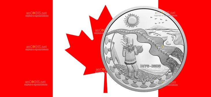 Канада монета 30 долларов 150 лет Северо-Западным территориям
