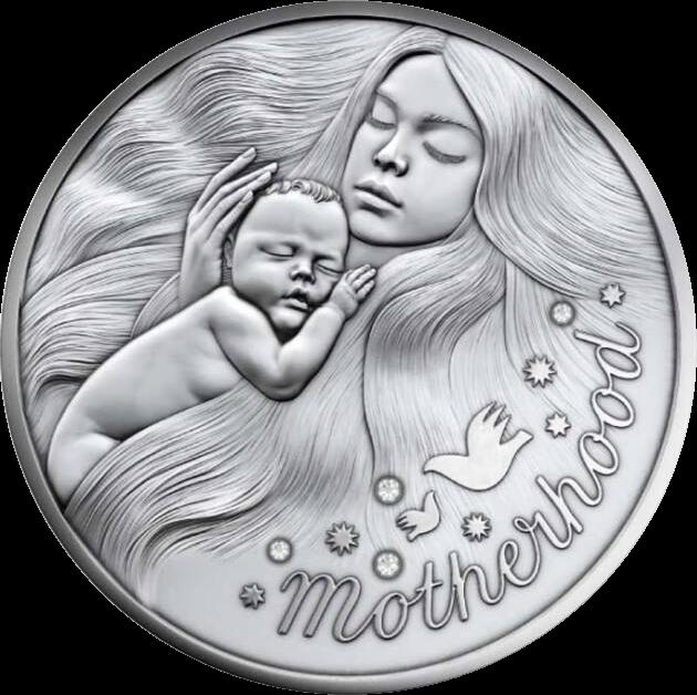 Ниуэ монета 1 доллар Материнство, реверс