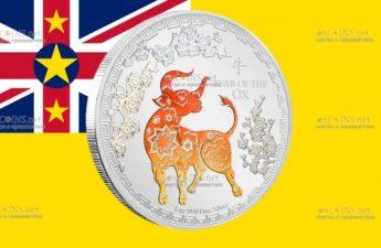 Ниуэ монета 2 доллара Год Быка