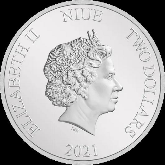 Ниуэ монета 2 доллара Год Быка, аверс