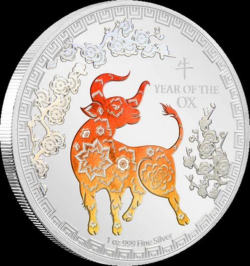Ниуэ монета 2 доллара Год Быка, реверс