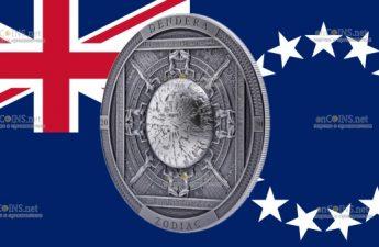 Острова Кука монета 20 долларов Дендерский зодиак