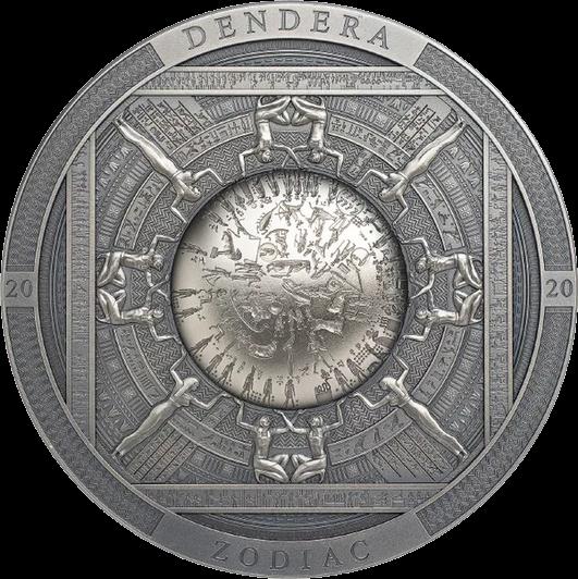 Острова Кука монета 20 долларов Дендерский зодиак, реверс