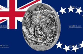 Острова Кука монета 20 долларов Прометей