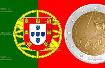 Португалия монета 2 евро Летние Олимпийские игры 2021