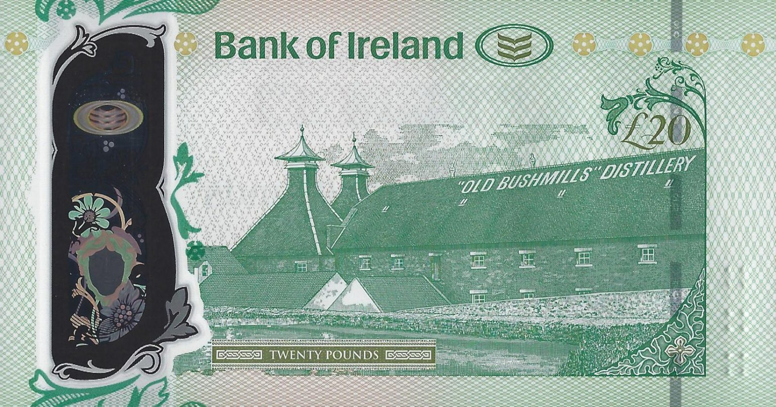 Северная Ирландия банкнота 20 фунтов, оборотная сторона