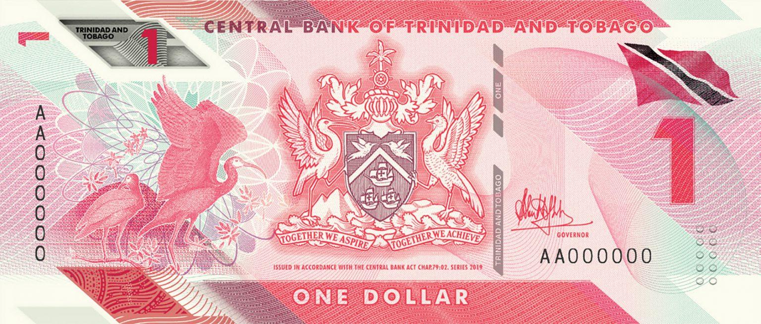 Тринидад и Тобаго банктона 1 доллар, 2020 года, лицевая сторона