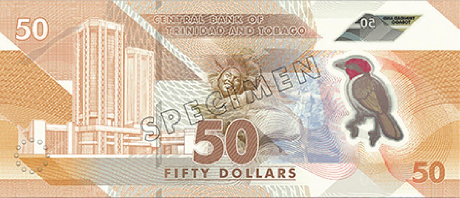 Тринидад и Тобаго банктона 50 долларов, 2020 года, оборотная сторона