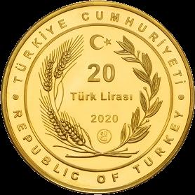Турция монета 20 лир мечеть Айя-София, аверс