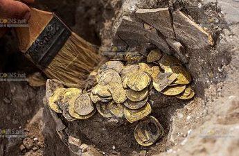 В Израиле найдет клад золотых монет